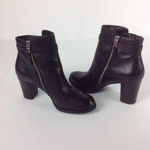 Ralph Lauren Leather Carole Booties 8.5 B Black